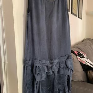 Theory satin grey blue dress small